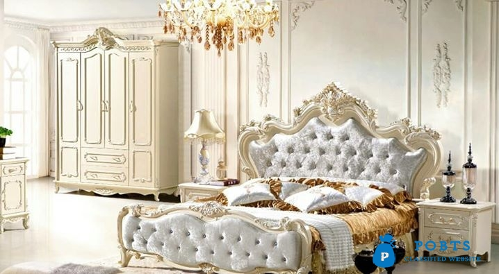 Luxury bed designs 1bed 2Side tables 1dressing Soild Shisham wood A+ Quality 10years warranty