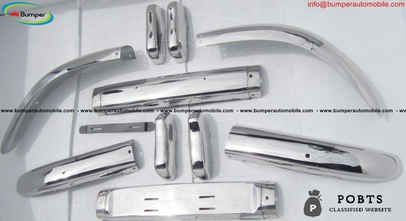 Volvo PV 544 Euro bumper kit new (1958-1965) stainless steel
