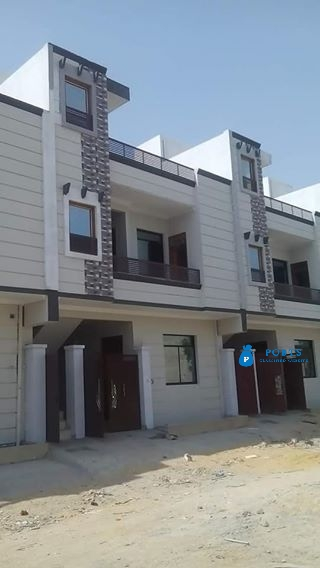 80 yards newly constructed ground plus one house for sell