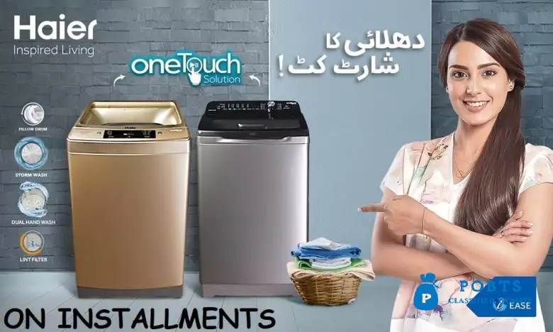 Haier Automatic washing Machine Price 9Kg on installments