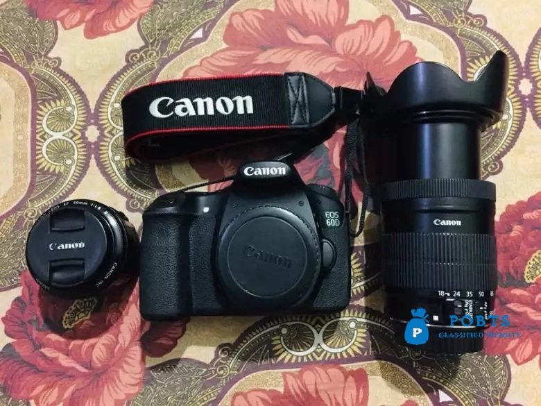 Canon 60d with two lens 13k SC