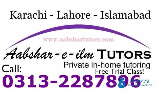 Accounting and Mathematics home tutor in Karachi for Private Tuition and Tutoring 0313-2287896