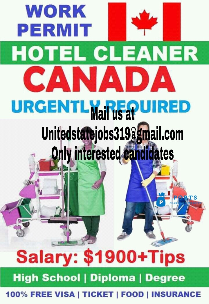 job opportunity in Canada free