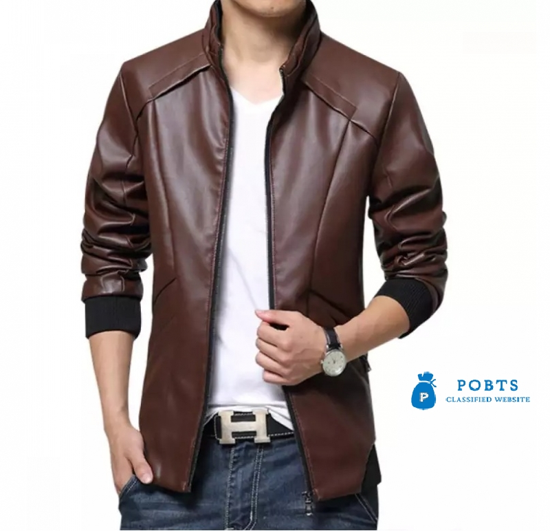 Biker Faux Leather Jacket.