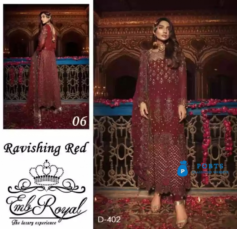 EMBROYAL LUXURY CHIFFON LEHANGA COLLECTION 2K18