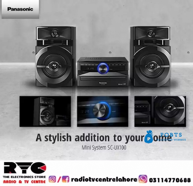 The Panasonic Mini System SC-UX100's luxurious design combined with it