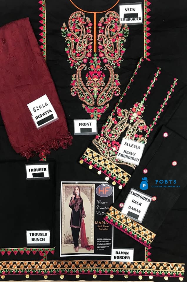 Article: Cotton Cambric Winter With Stole Dupatta