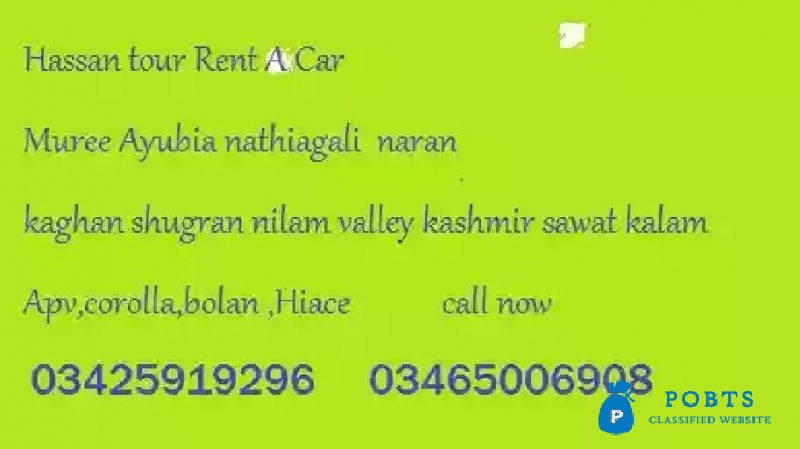 Luxury cars on Rent for family tours