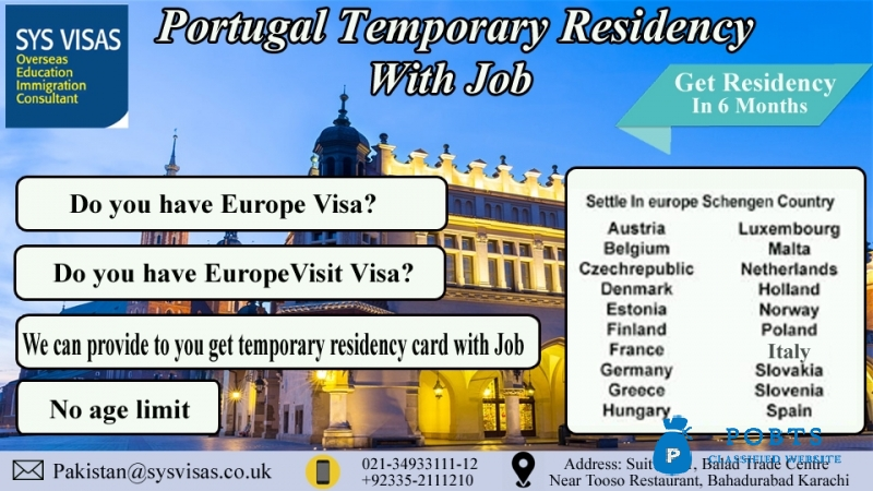 Portugal Temporary Residency With Job - Post Free ad POBTS