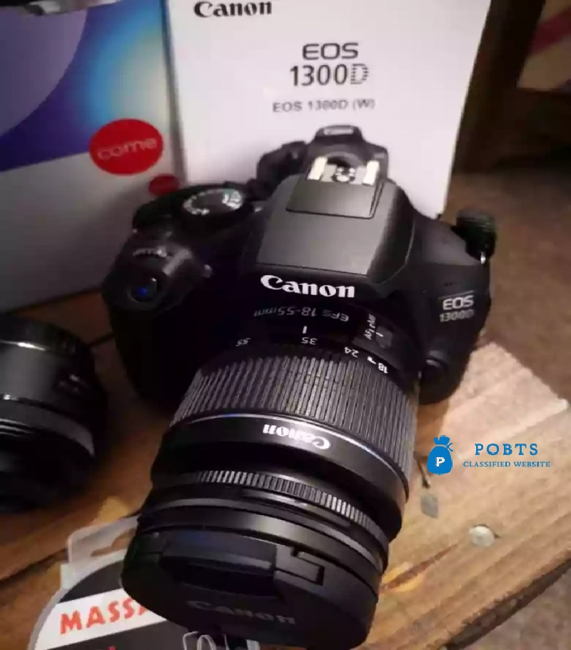 Canon EOS 1300 D DSLR CAMERA with tow lens all accessories box .,.,