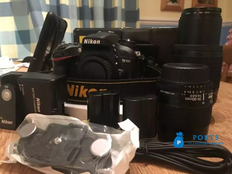 Nikon D 7100 dslr camera with all accessories complete box bag and