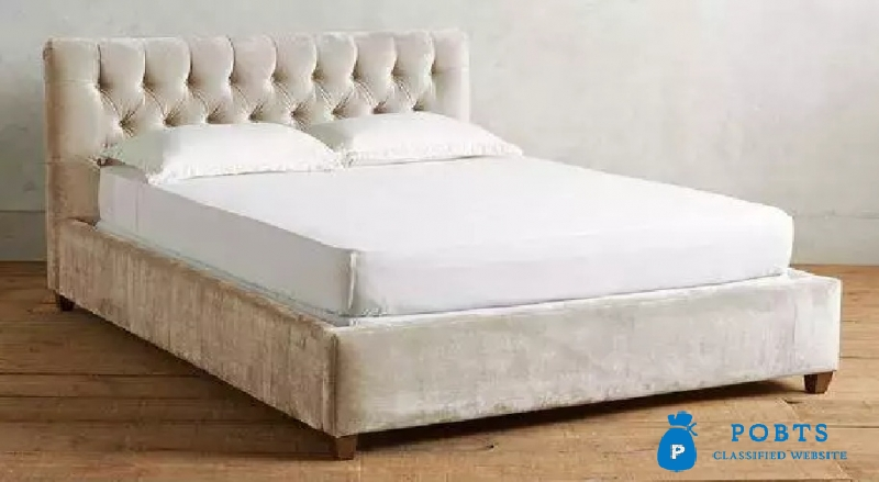 Low Profile Tufted bed.