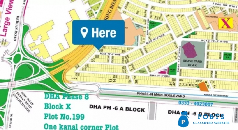 Dha Lahore phase 9 prism one kanal plot far sell in R block