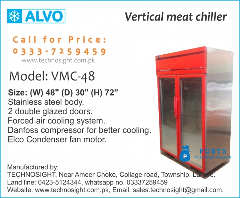 ALVO Meat Shop Equipment, Display Chiller for Meat Shop in Pakistan, Chiller for Meat Shop in Pakistan