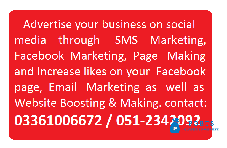 Advertise your business on social media through us