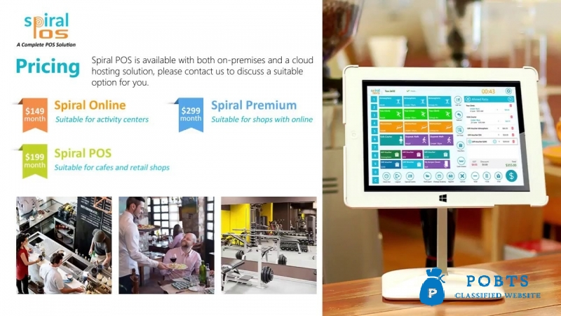 Touch Screen POS , Point of Sale Software for Restaurants | Spiral POS