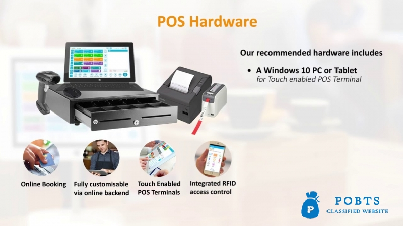 Touch Screen & Cloud based Software for multi business Spiral POS