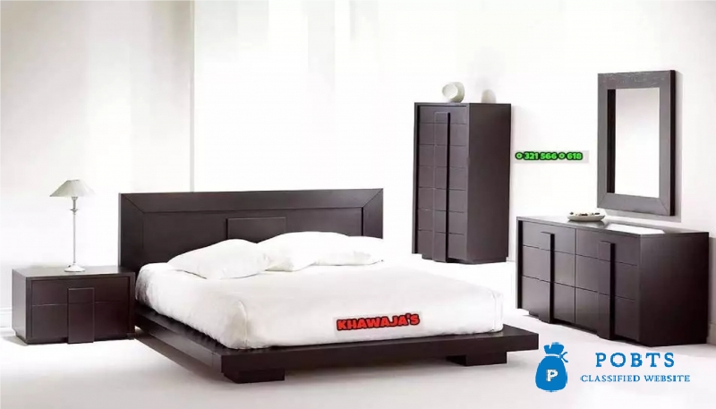Excellent Quality Bed With Side Table