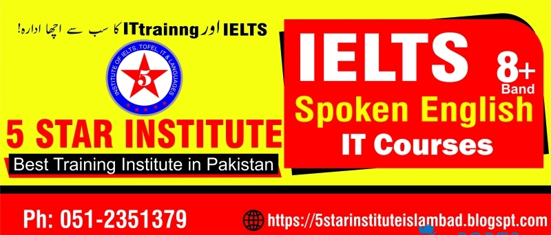 Spoken English Course with 5 STAR INSTITUTE, Best Language Institute in Islamabad