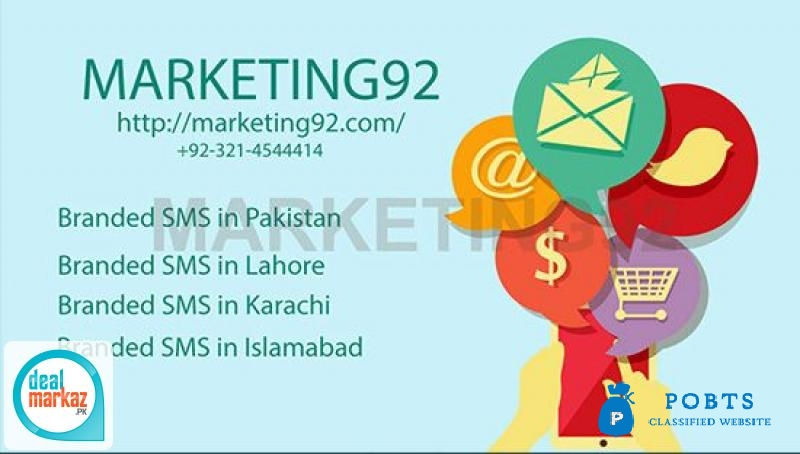 Branded sms in Pakistan provided by Marketing92