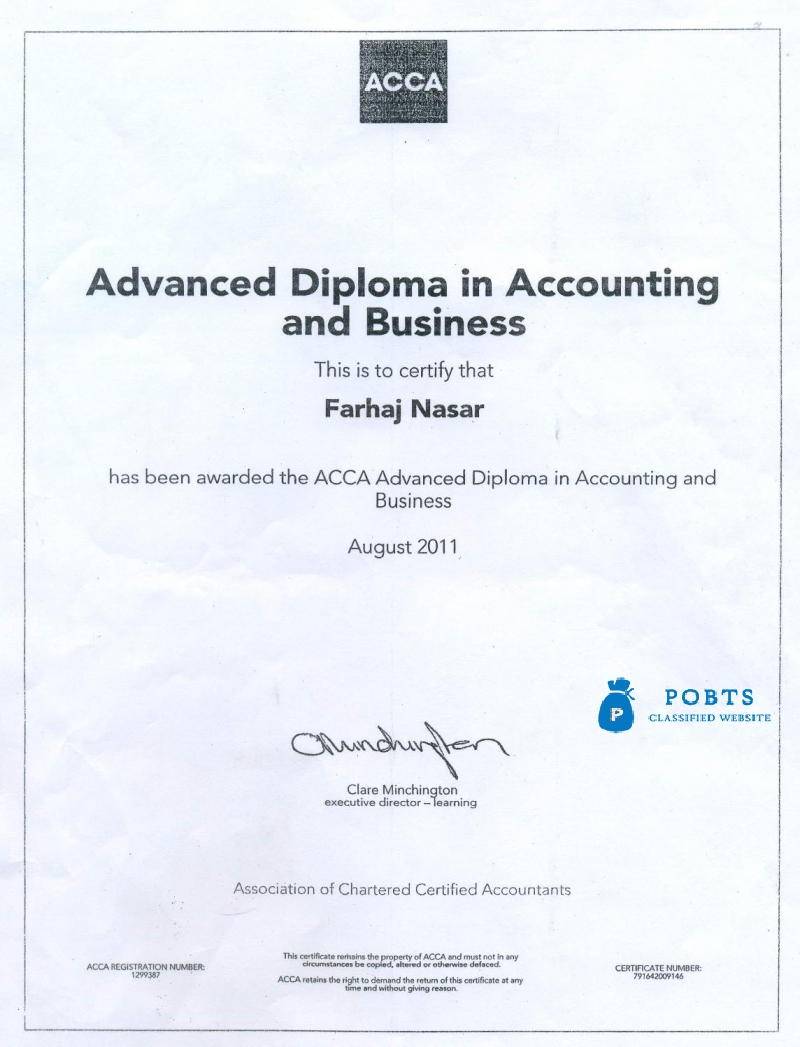 ACCA-FIA with QUICKBOOKS (ACCOUNTING SOFTWARE)