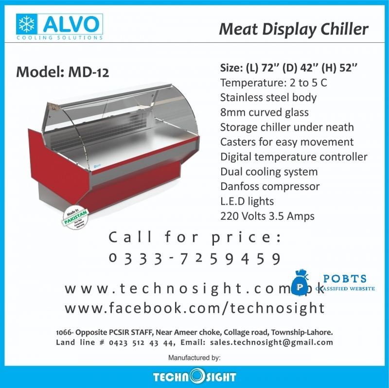 ALVO Meat Display Showcase, Meat Hanging Chiller, Meat Display Fridge, Meat Display Counter,Equipment for Meat Shop made byTechnosight, Meat Shop Equi