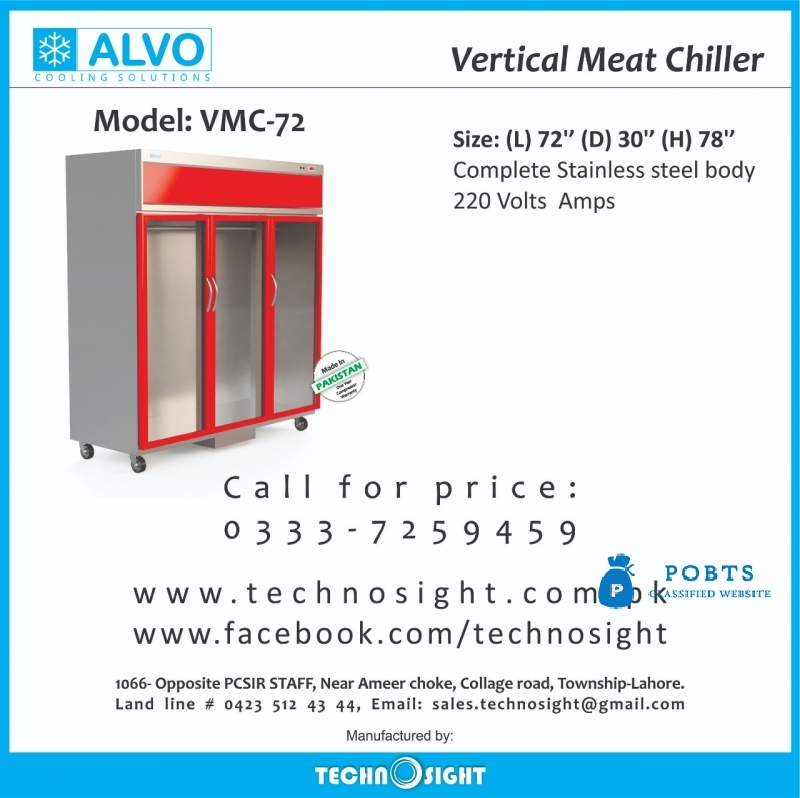Meat Hanging Chiller, Meat Display Showcase, Meat Display Fridge, Lamb Hanging Chiller for Meat Shop in Pakistan, Meat Display Chiller in Pakistan