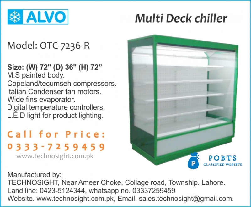 Fruit Display Chiller, Vegetable Chiller, Open Display Chiller in  Pakistan, Multi Deck Chiller in Pakistan, UP Right Chiller,