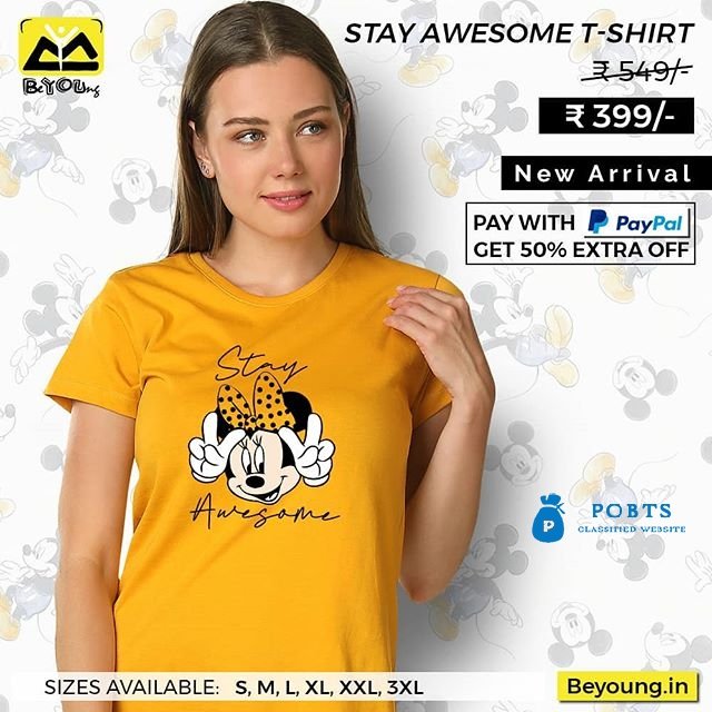 Buy Awesome T Shirt for Girls Online India @ Beyoung