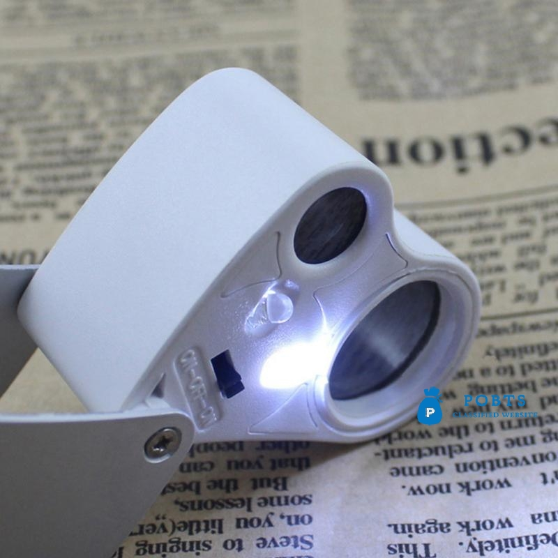LED Glass Magnifying Magnifier Hand Lens