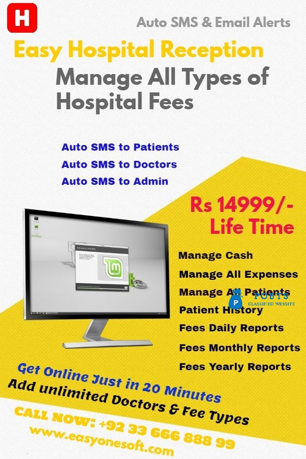 Hospital Software With sms Facilitys