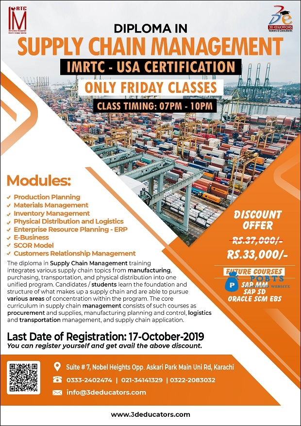 Diploma in Supply Chain Management by 3D Educators