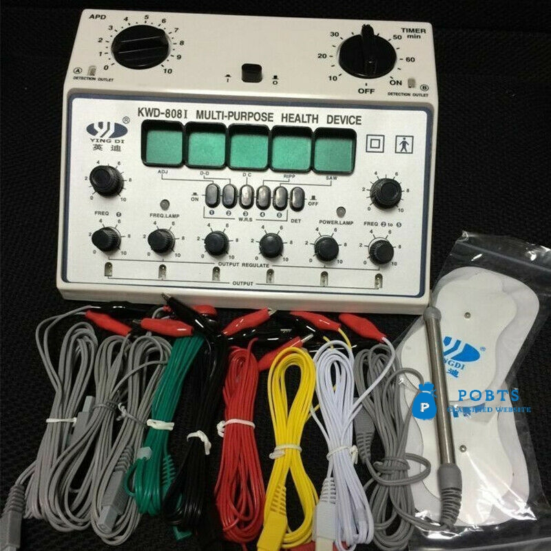 Electric Acupuncture Stimulator Machine KWD808-I 6 Output Patch Massager Care