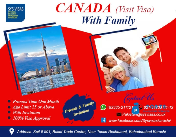 CANADA VISIT VISA WITH FAMILY