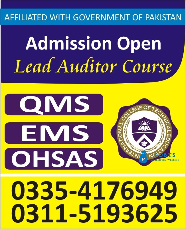 USA ISO QMS 9001- 2015 Course in Islamabad Pakistan