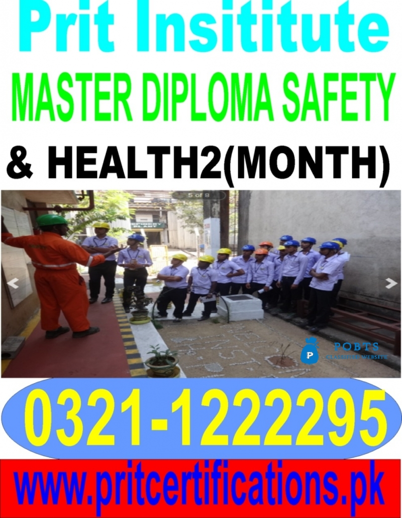Master diploma in safety and health course in Islamabad