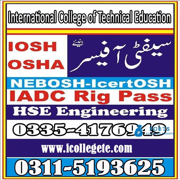 IOSH UK TRain the trainer Course in islamabad 03115193625