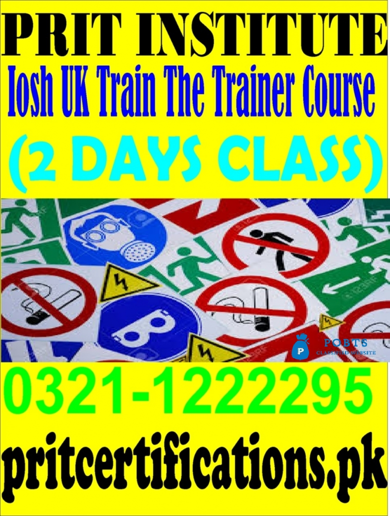IOSH uk train the trainer course in islamabad