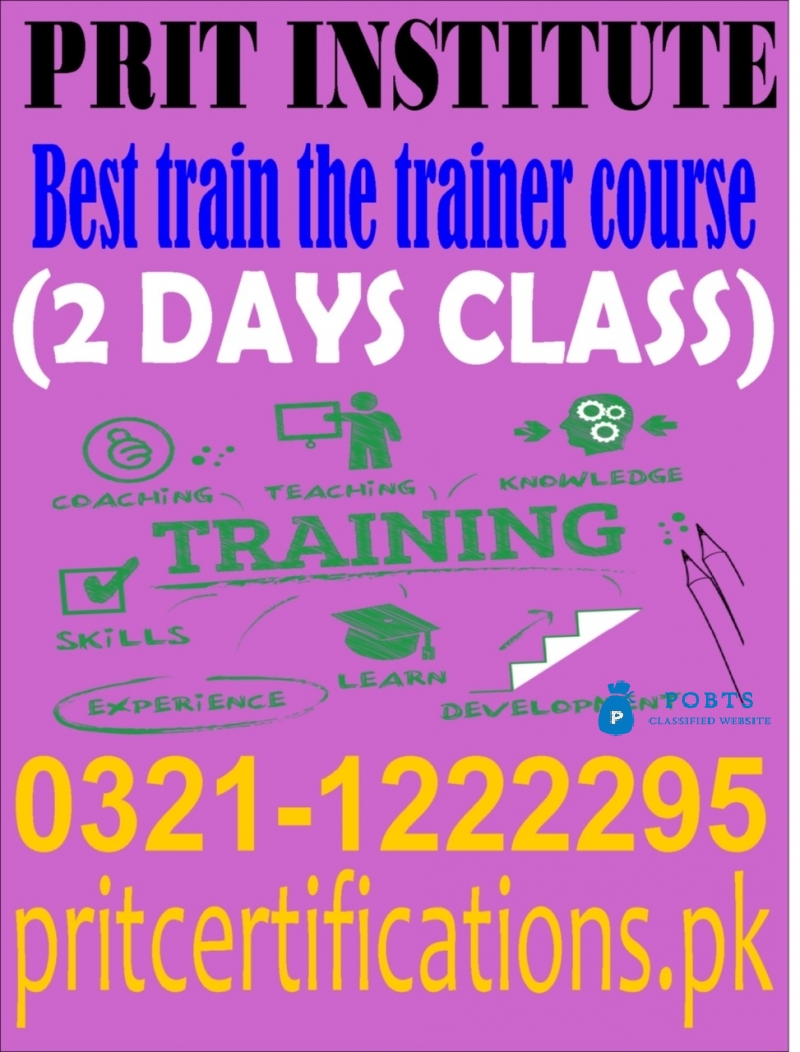 Best train the trainer course in islamabad