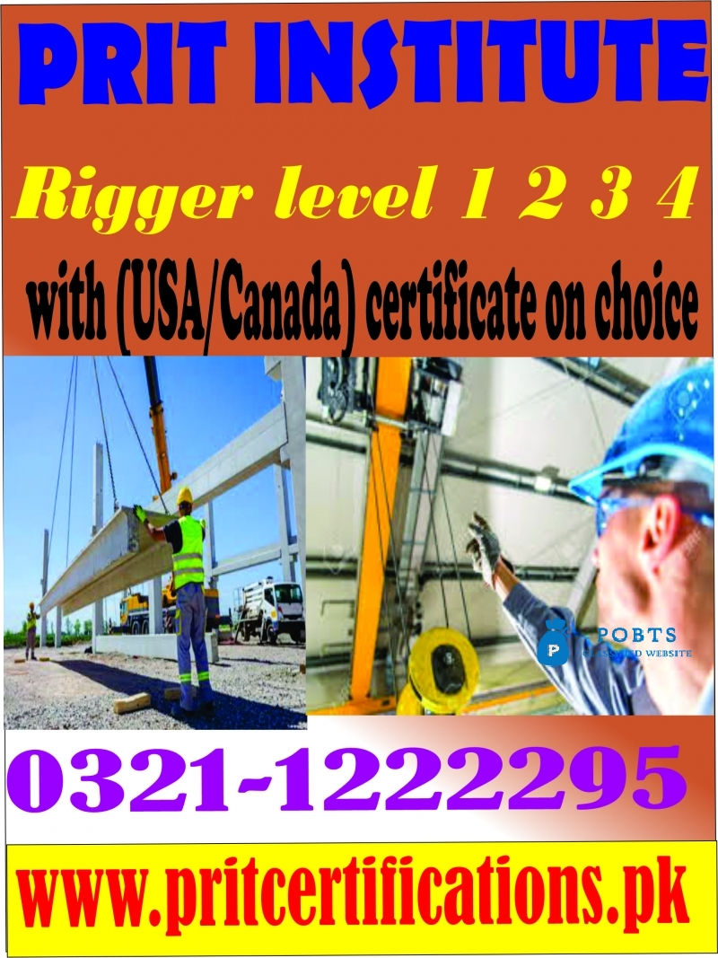 Rigger LEVEL 1 2 3 COURSE IN ISLAMABAD