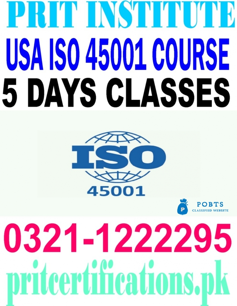 ISO international certifications course in islamabad