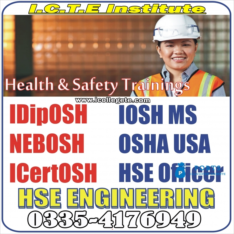 Ofqual Level 6 Safety Diploma For Gradiosh Course in Rawalpindi Pakistan