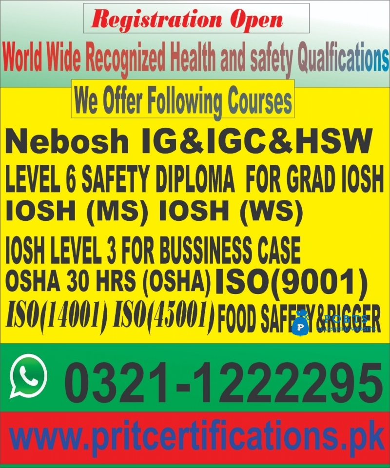 IOSH Managing Safely course in Bahawalpur Dinga Qila Didar Singh