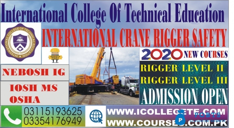 International Diploma in crane safety & Rigger Course in Pakistan