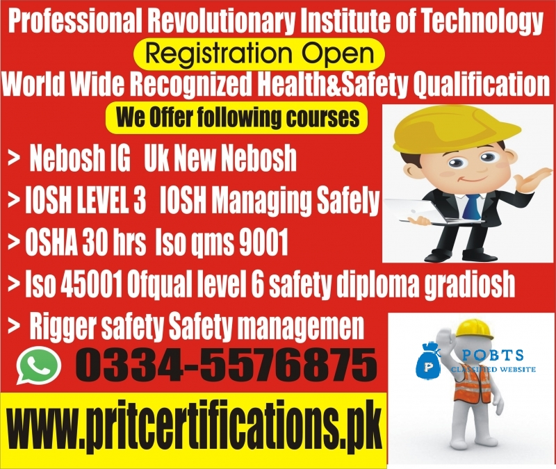 Nebosh Course in Sialkot