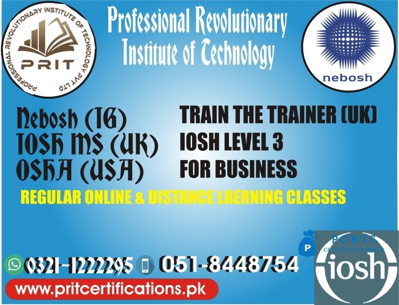 iosh managing safely course in islamabad