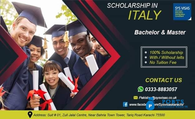 scholarship In Italy Bachelor & Master