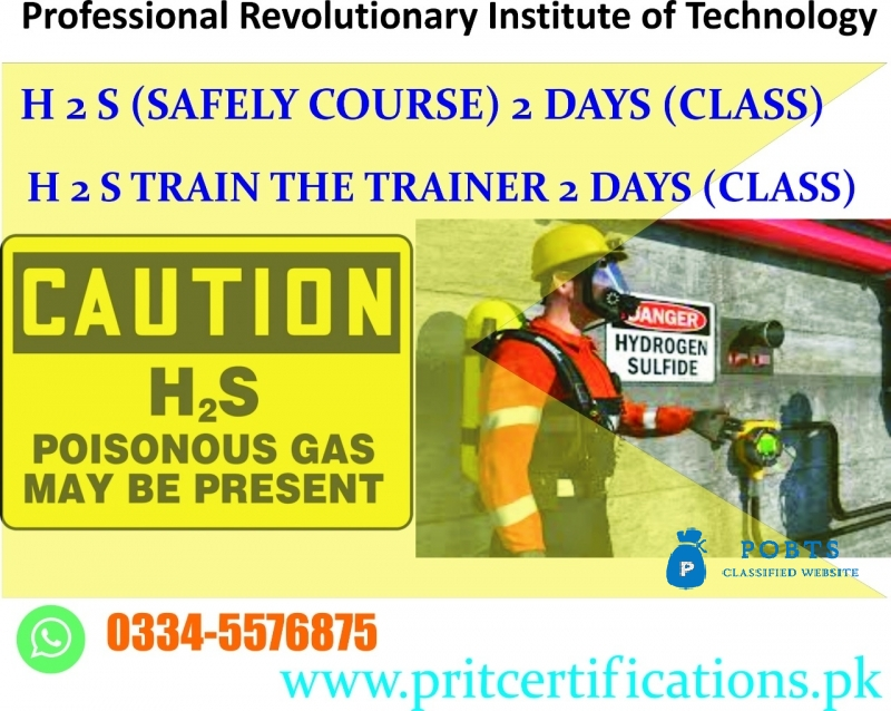 H2S Safety course in Islamabad
