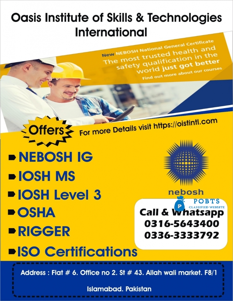 IOSH Working Safely Training Course in Top Institute in Pakistan