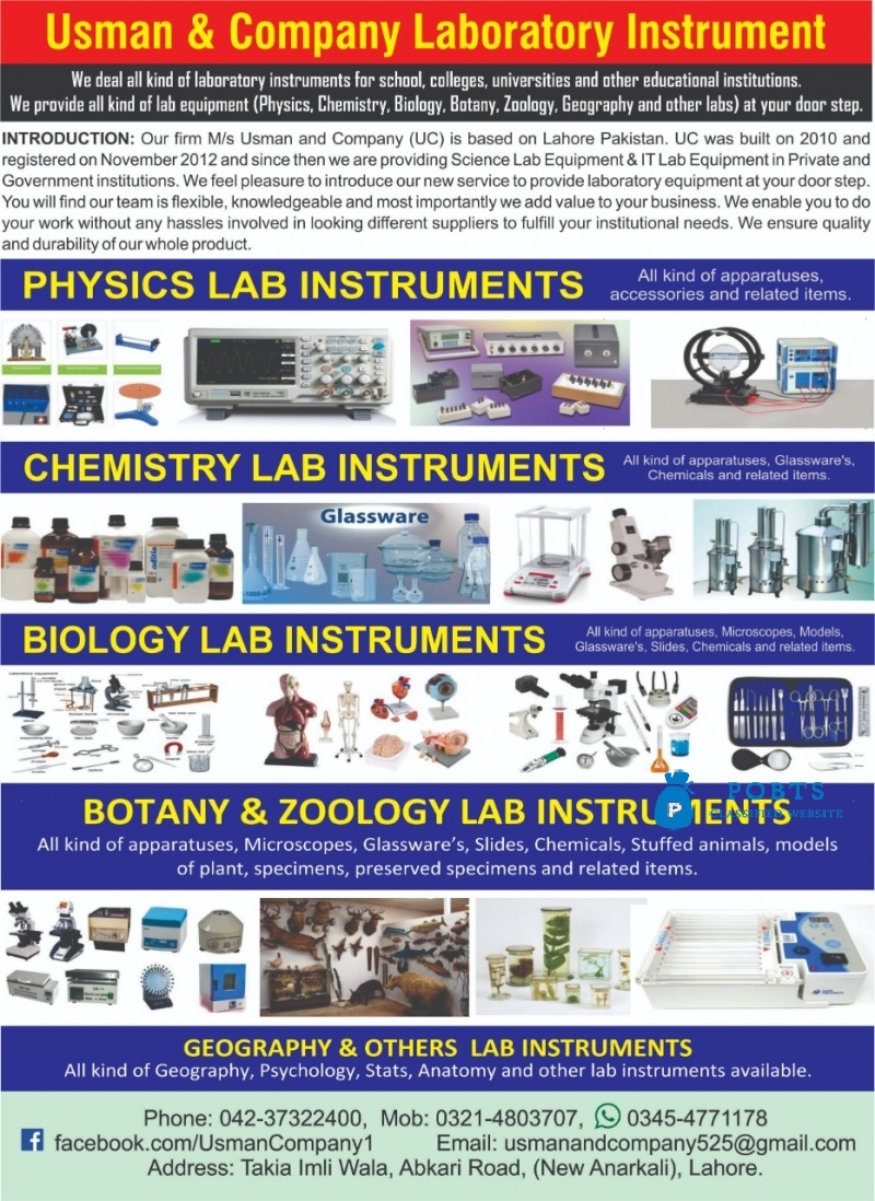 Science & Laboratory Instruments Lab Practical Equipment